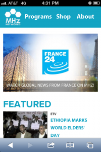 MHz Networks' responsive site