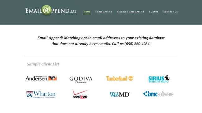 email appending service through www.emailappend.me