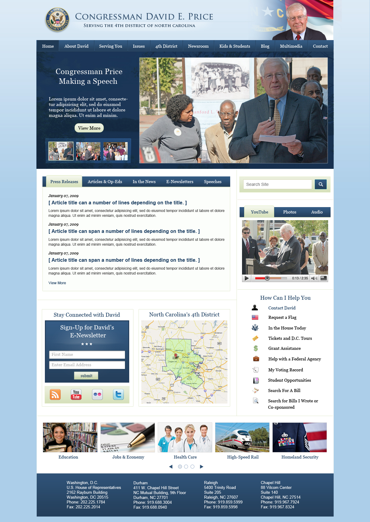 Dc Web Design Company Launches New Online Infrastructure For 9 Congressional Members Adding To Its Impressive Congressional Portfolio Of 110 Congressional Members Wdg