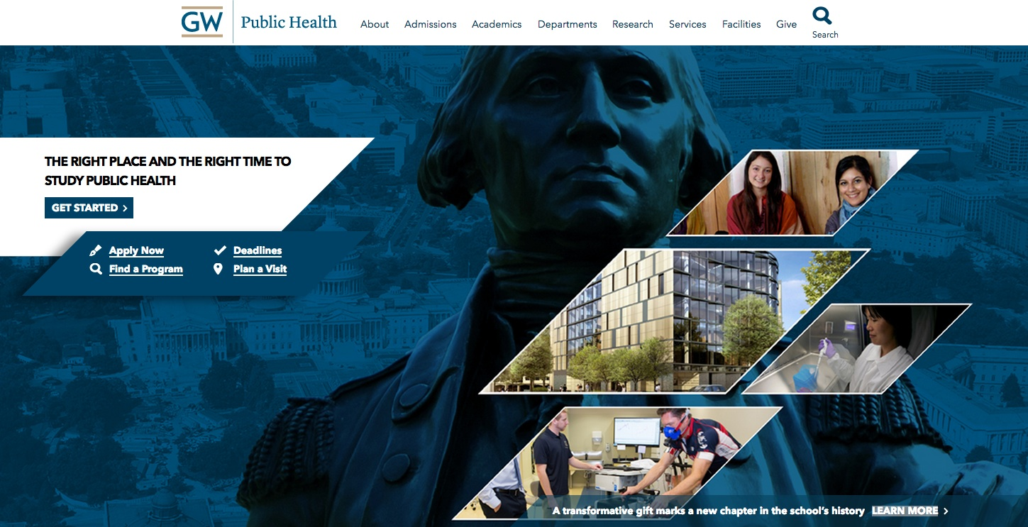 """WDG builds website for GWU's School of Public Health leading to highest donation ever received"