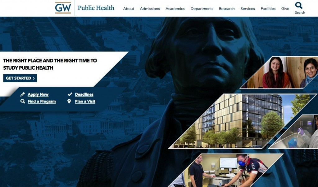WDG builds website for GWU School of Public Health leading to highest donation ever received