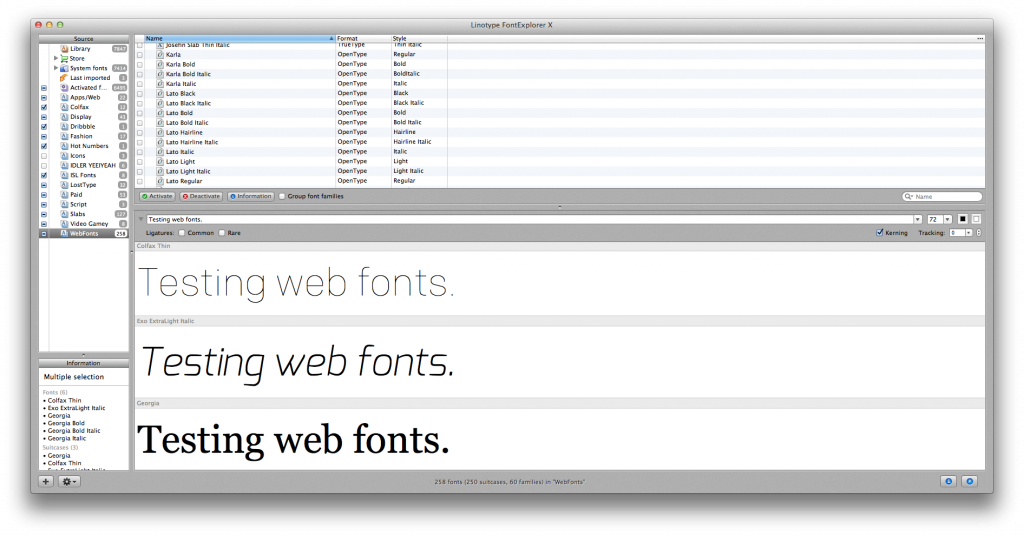 Fonts Libraries