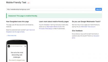 mobile-friendly test wdg