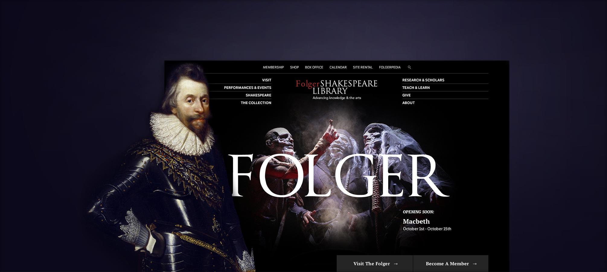 Design direction presentation for Folger.edu