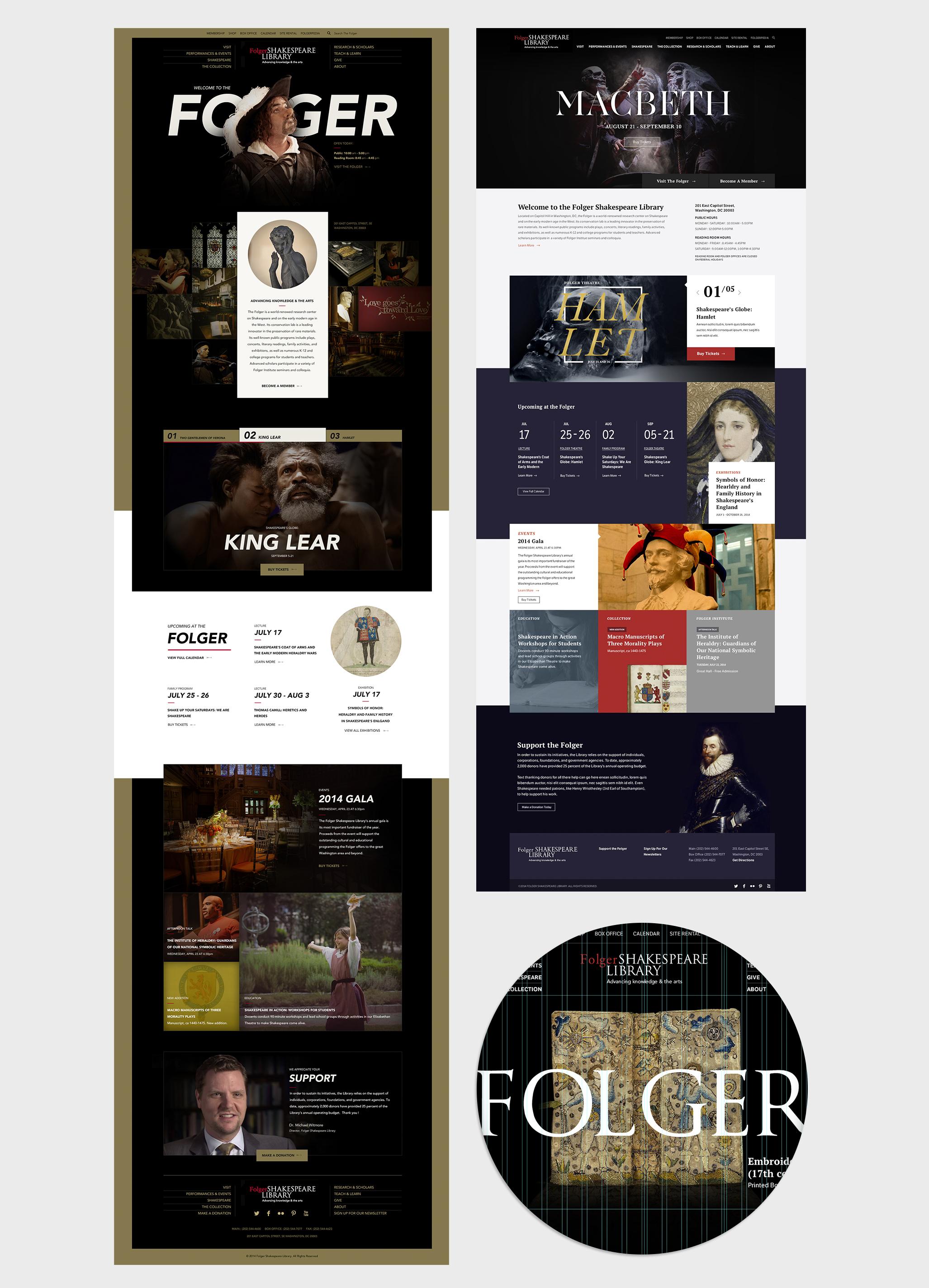 Folger.edu design comp details