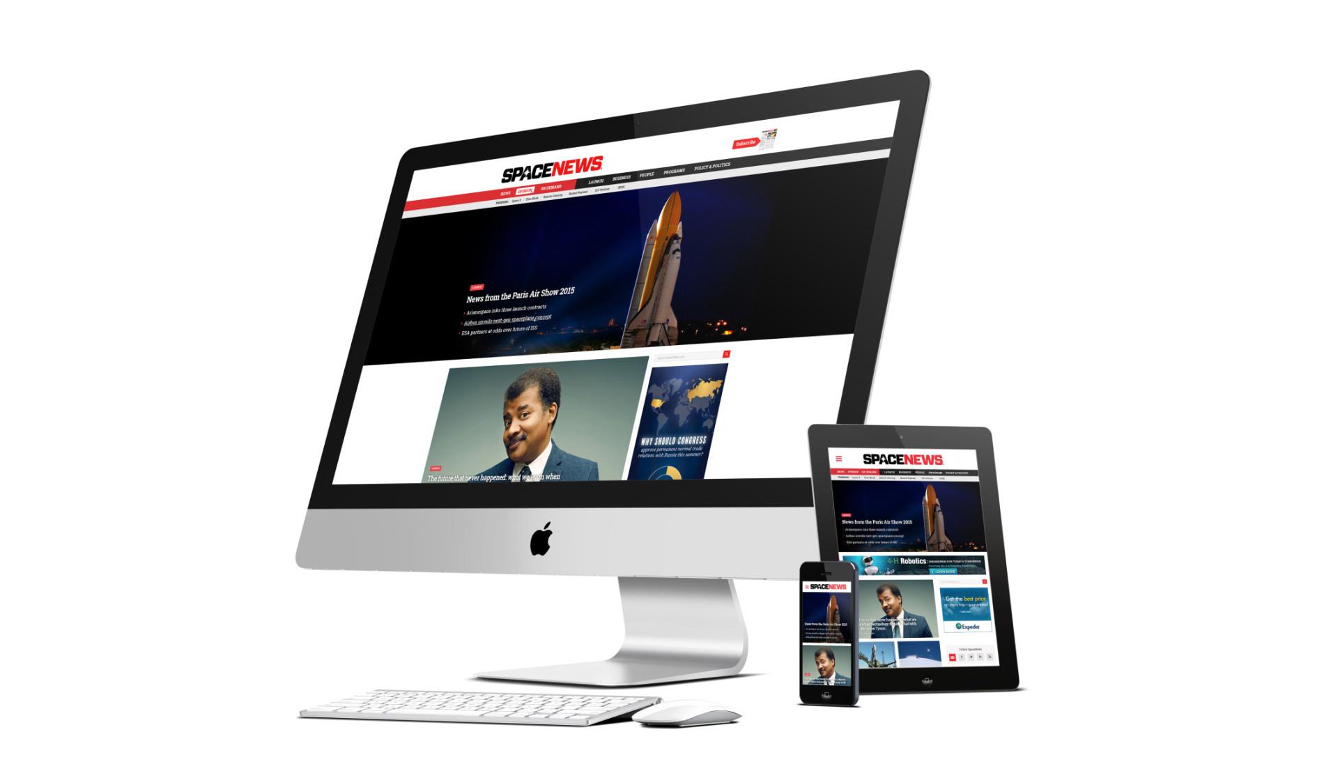 Spacenews responsive design comps