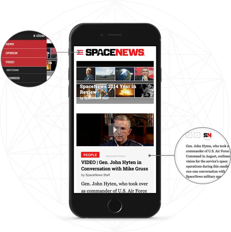 Spacenews mobile design comp