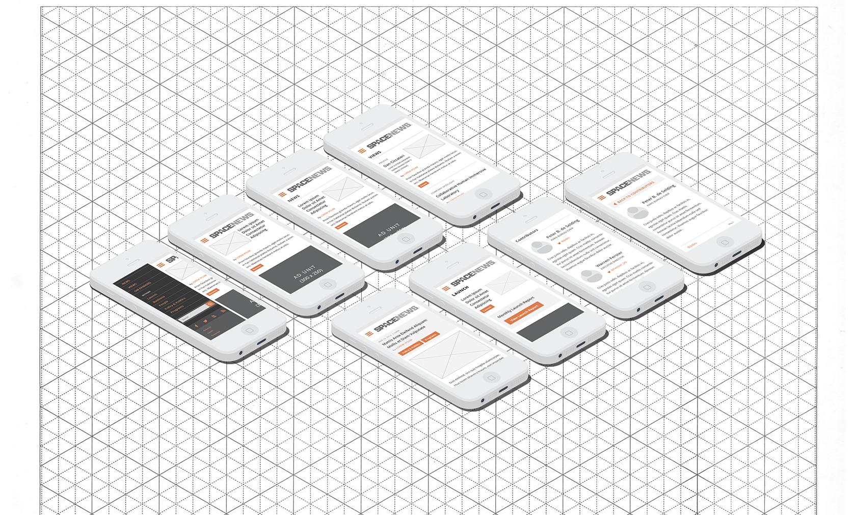 Spacenews mobile prototype comps