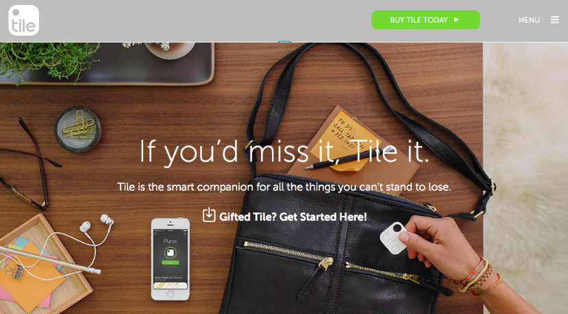 Tile gives the user a clear call to action that isn't hidden behind over-embellishment.