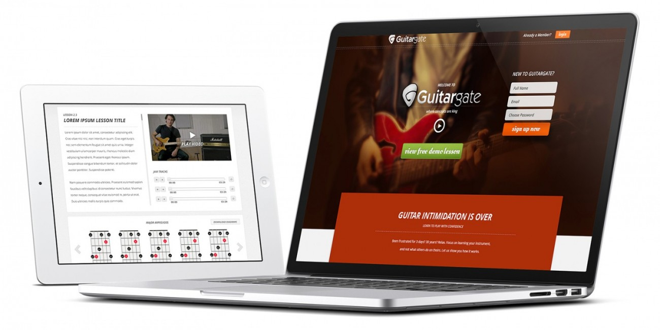 Guitargate responsive design worked on any device