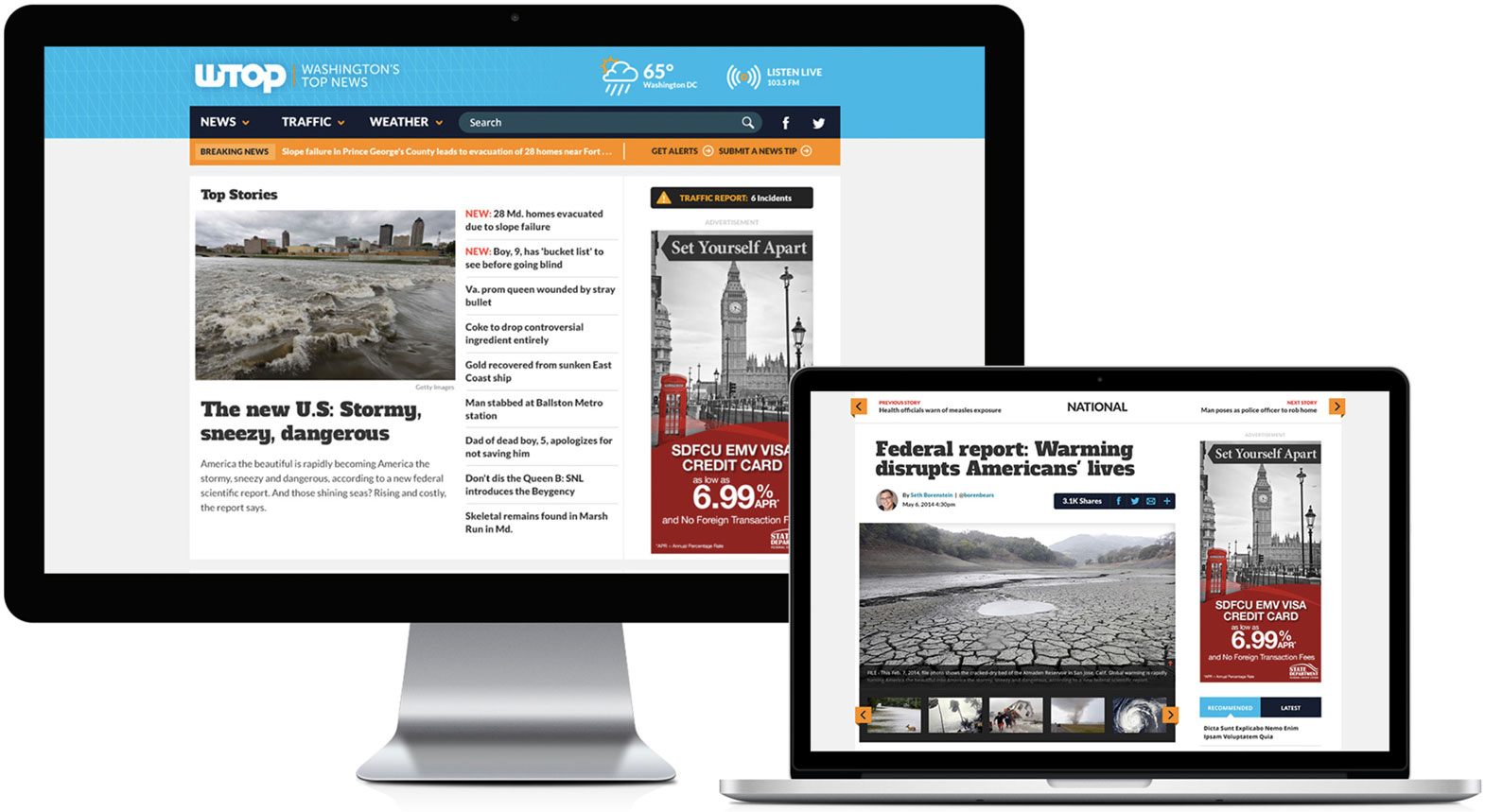 WTOP.com early design comp