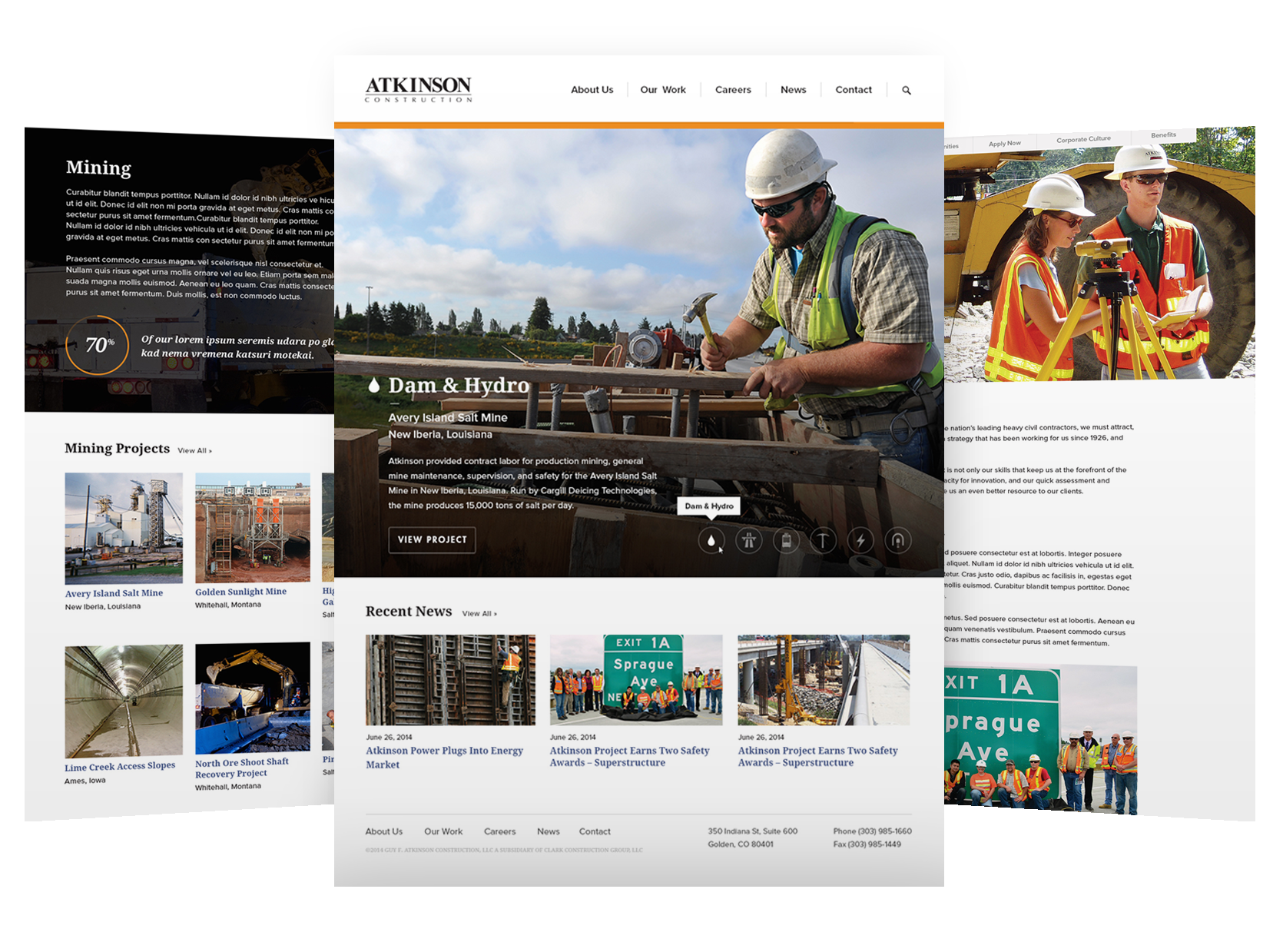 We worked with the Marylany based Clark Construction to redesign the Atkinson site.