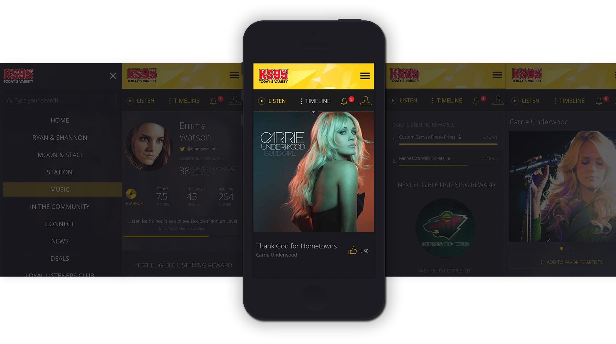 Hubbard Live Stream mobile design comp