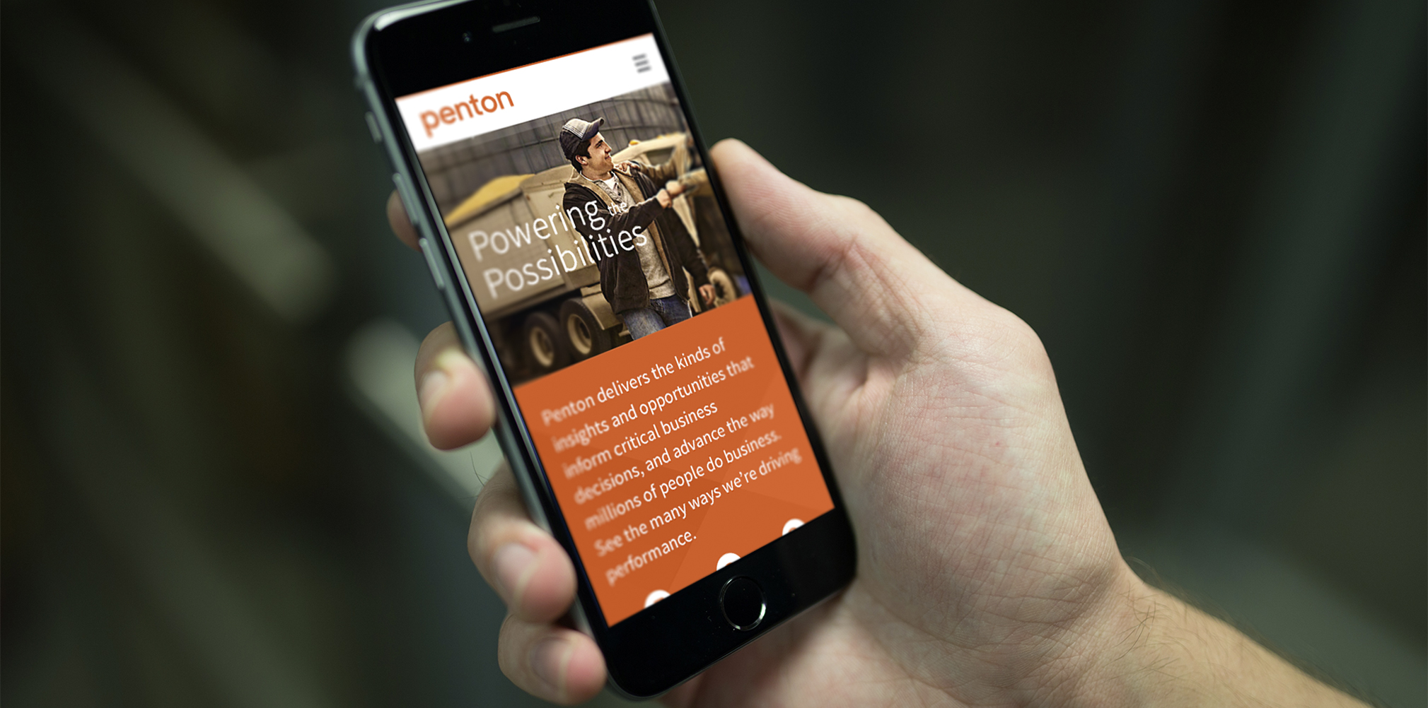 Readability on a mobile device is paramount for Penton