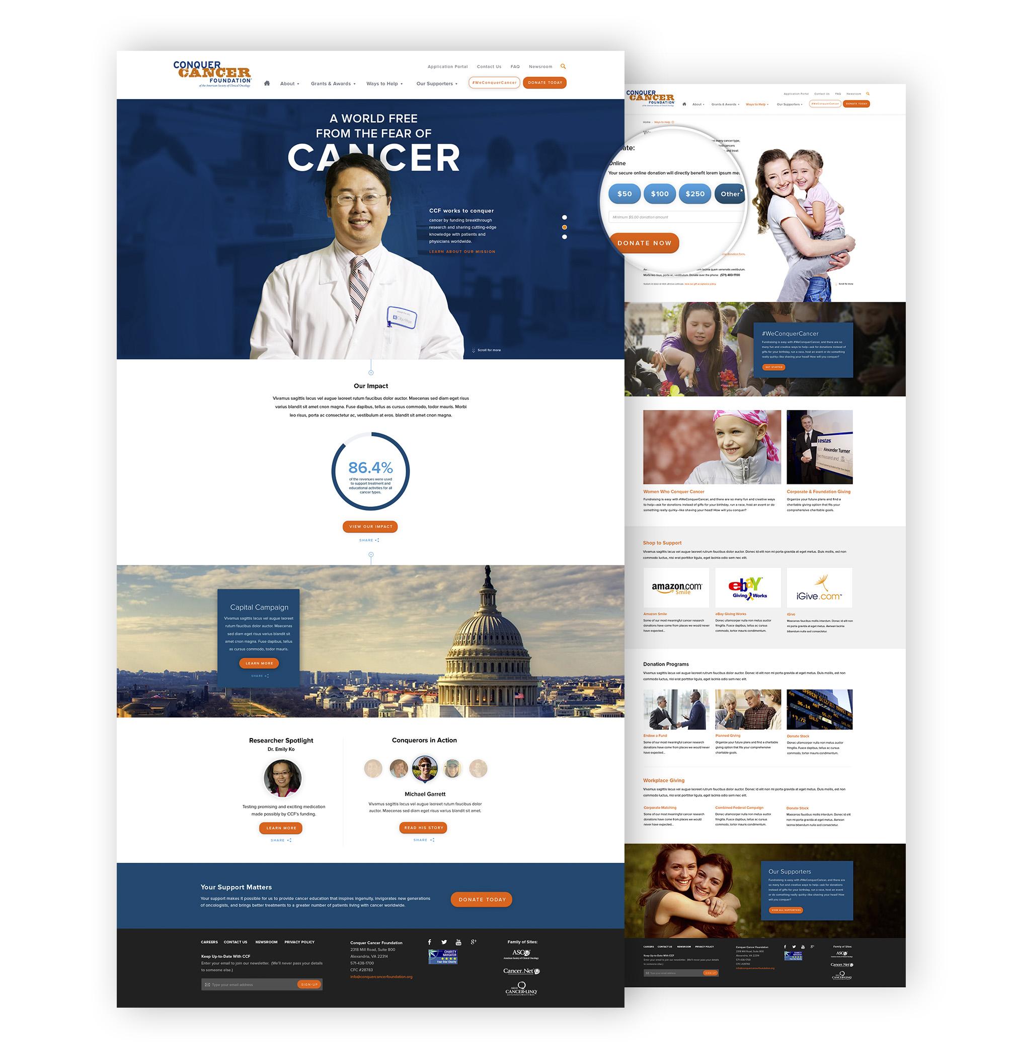 Conquer Cancer Foundation design comp details