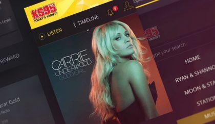 Hubbard Radio web design mockup