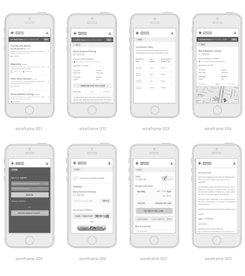 Red-Cross-Mobile-App-Wireframes