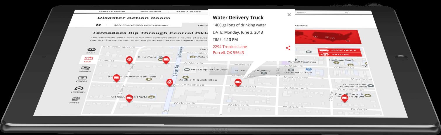 Red-Cross-Tablet-Map-Mockup