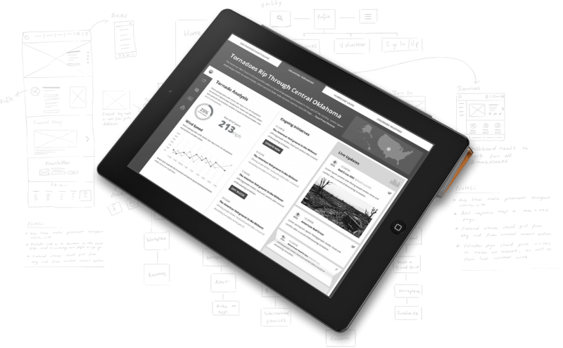 Red-Cross-Wireframe-Tablet-App