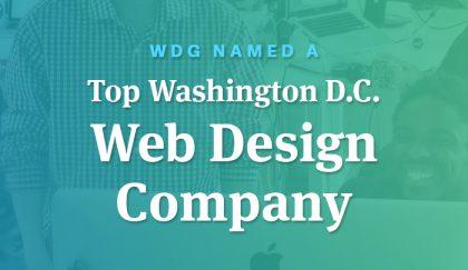 Wdg Named A Top Washington D C Web Design Company Wdg