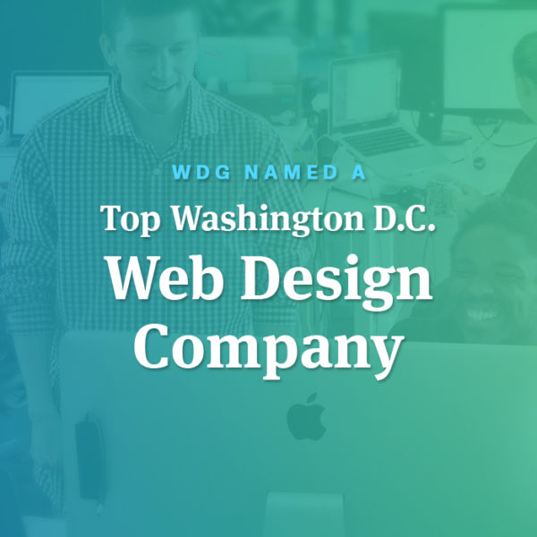 WDG Named a Top Washington, D.C. Web Design Company