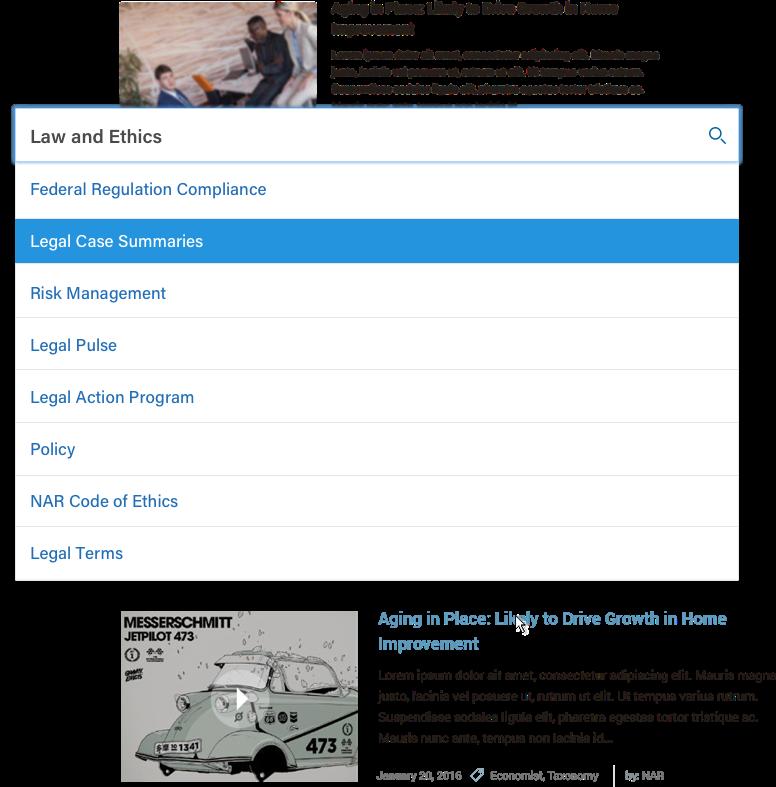 National Association of Realtors design functionality details
