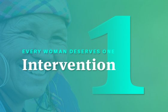 Global Coalition to End Cervical Cancer: Every Woman deserves 1 intervention