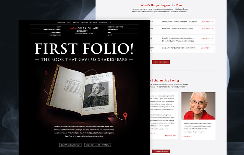 Folger Shakespeare Library First Folio design details