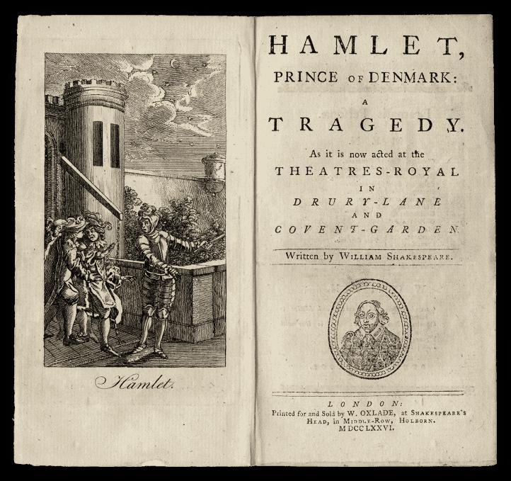 manuscript title page of hamlet