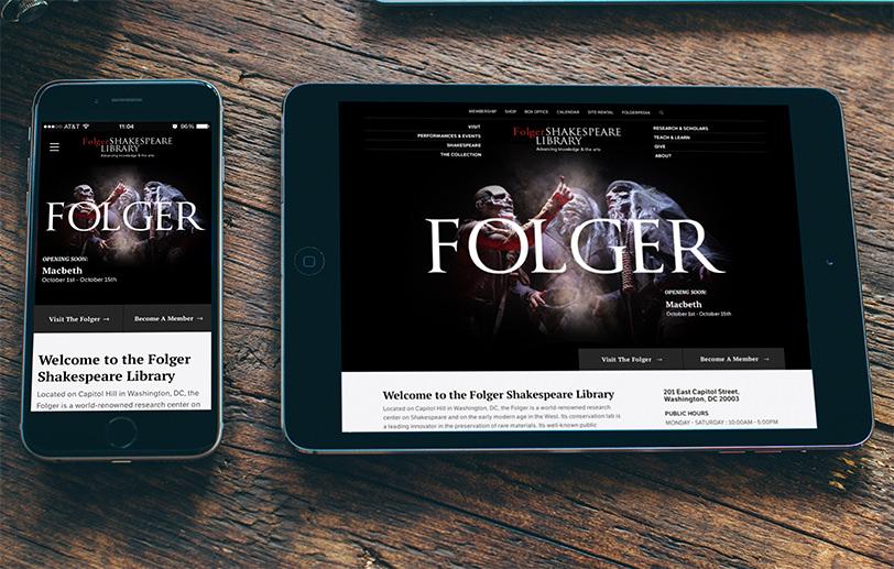 Folger Shakespeare Library Drupal responsive design details