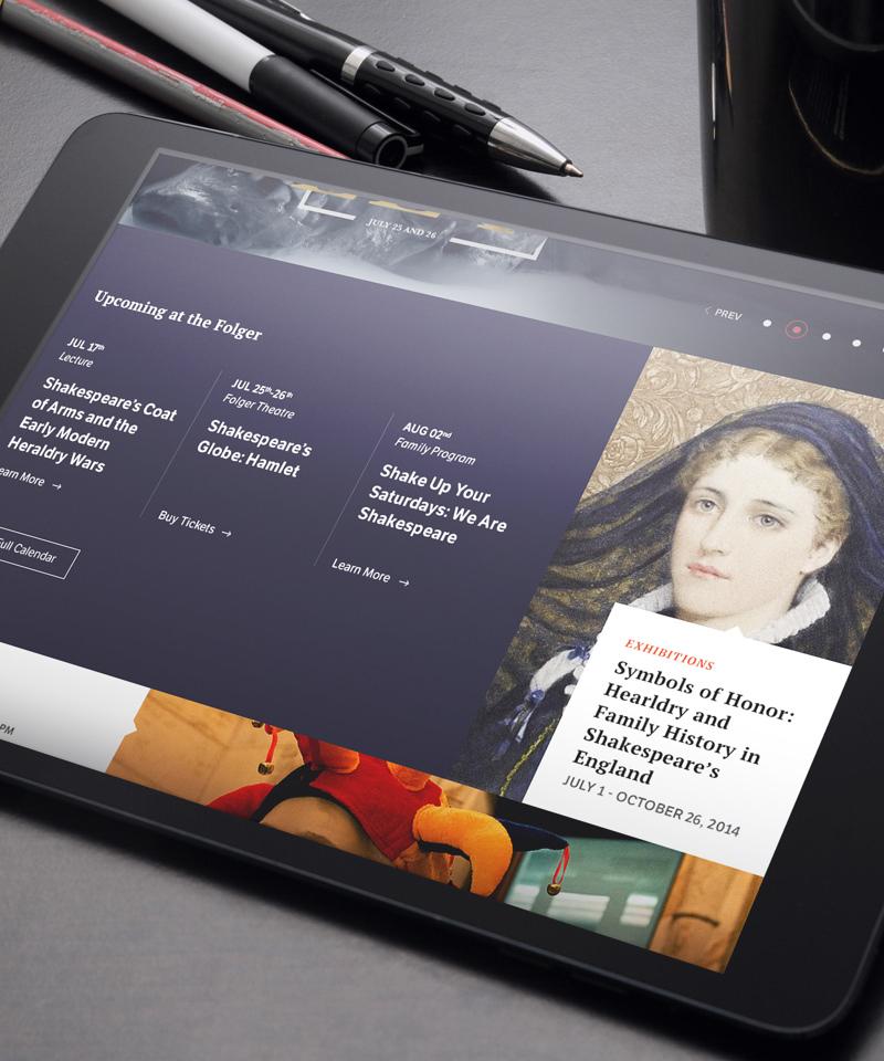 Folger Shakespeare Library tablet design