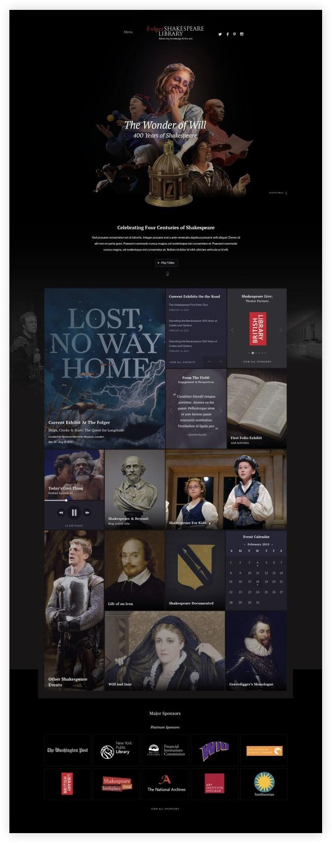 wonder of will homepage screenshot