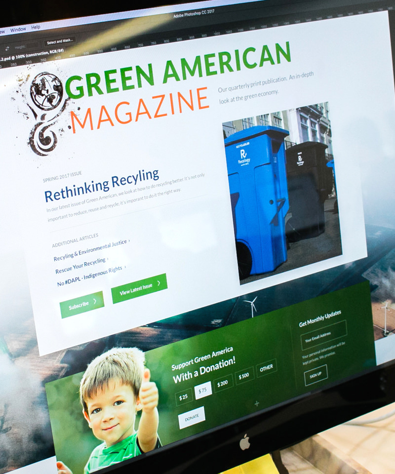 Green American Magazine design
