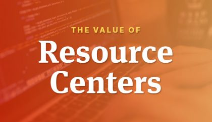 The value of resource centers