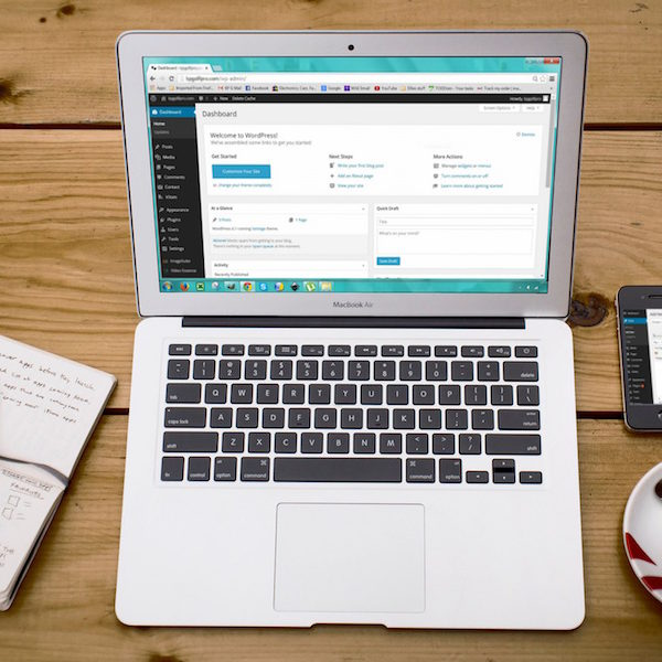 Using WordPress is a breeze from your desk or on the go!