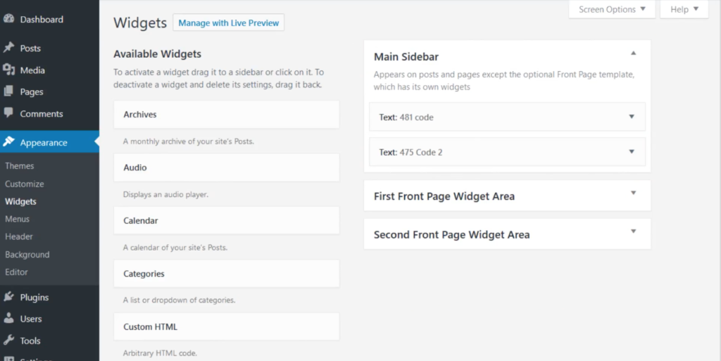 wordpress 4.8.1 text editor