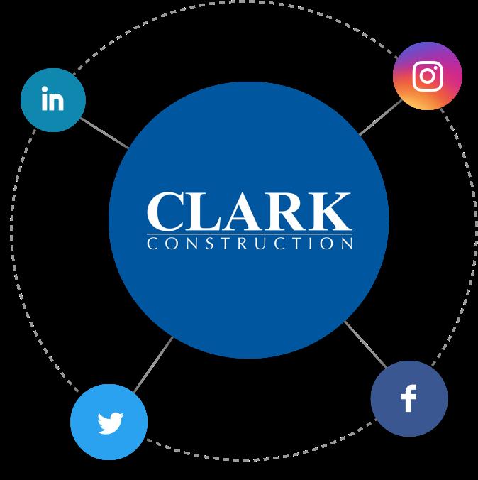 Clark Construction Social Media
