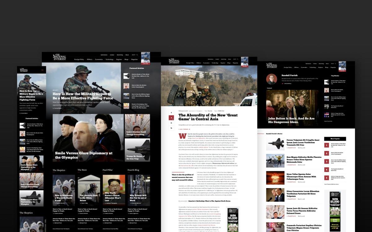 Screenshots of nationalinterest.org