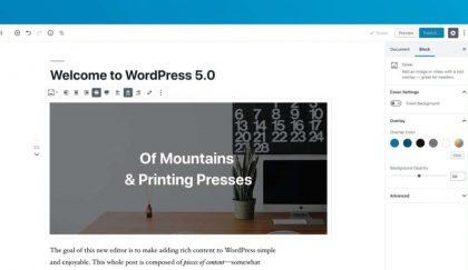 WordPress 5.0 is released.