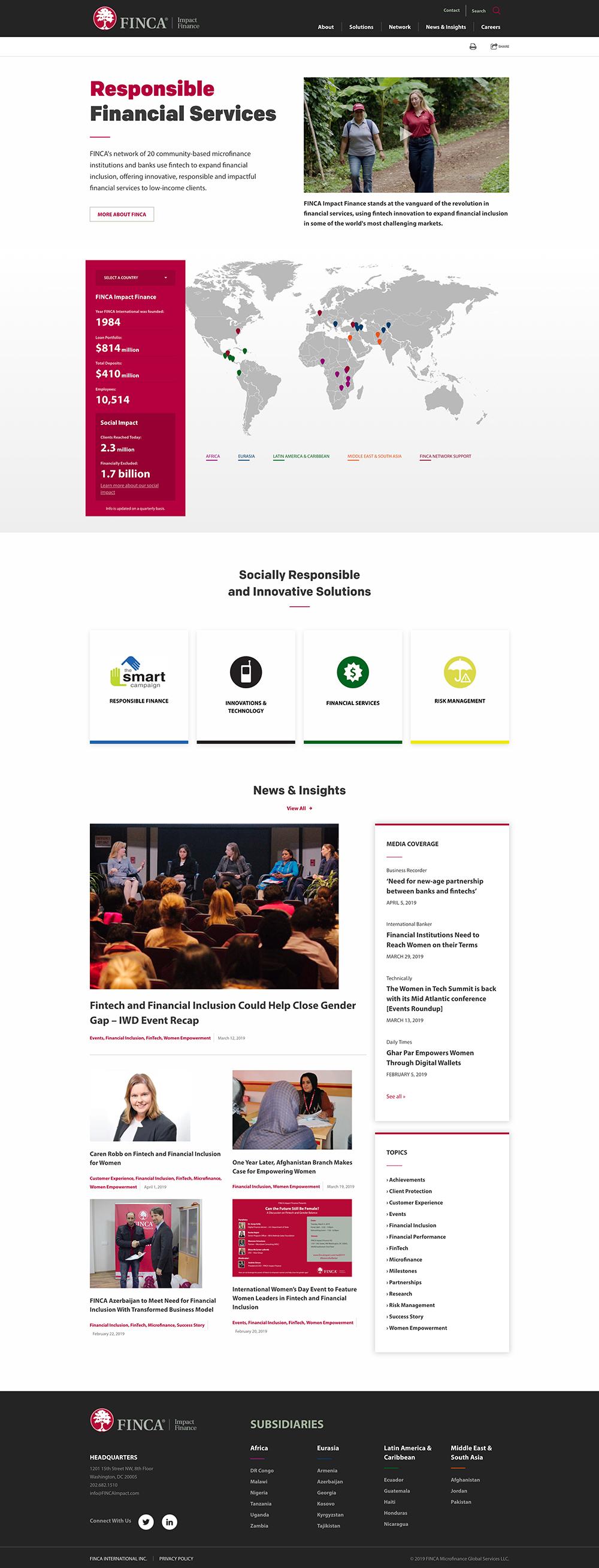 FINCA Impact Finance homepage