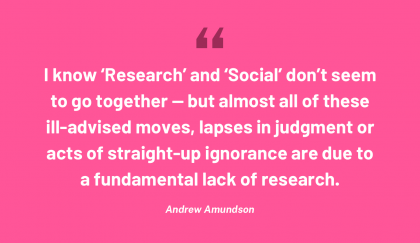 Quote about the need for research in social media.