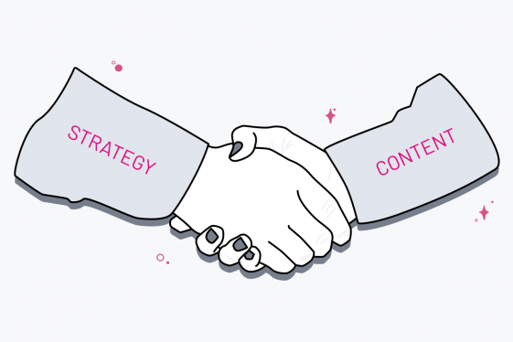 Content and Strategy shaking hands