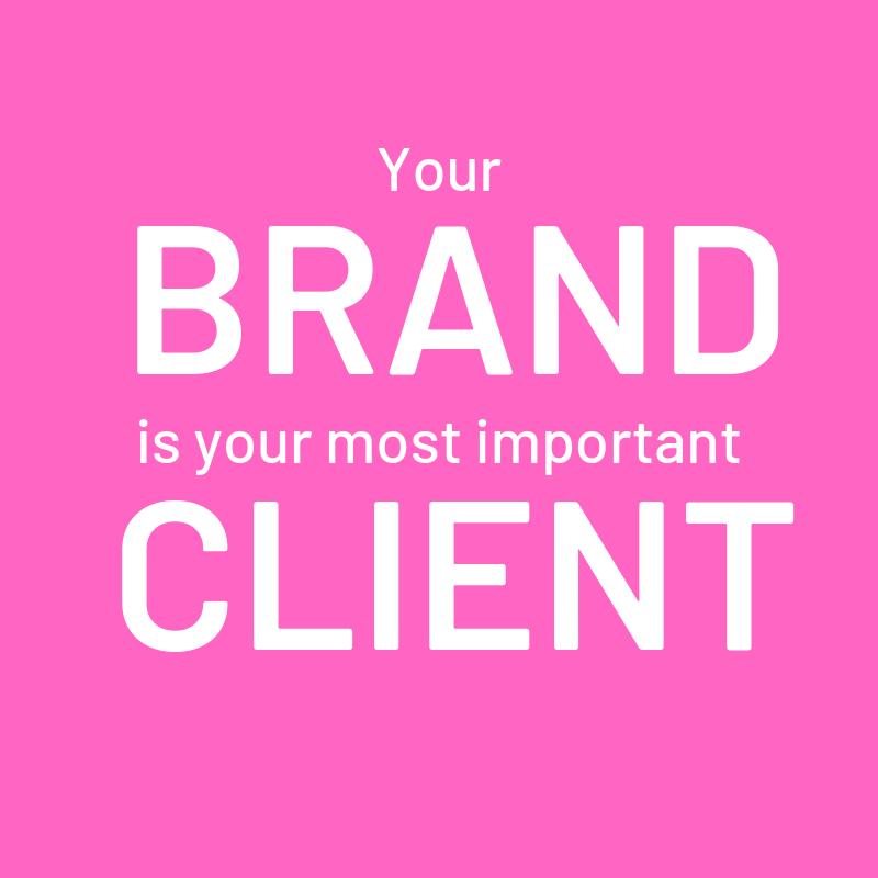 Branding quote.