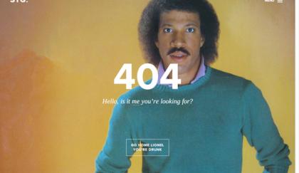 Lionel Richie 404 Error Page