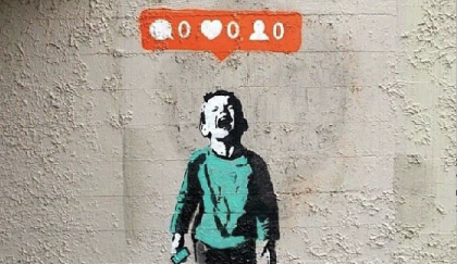 Banksy 'no love on social'.