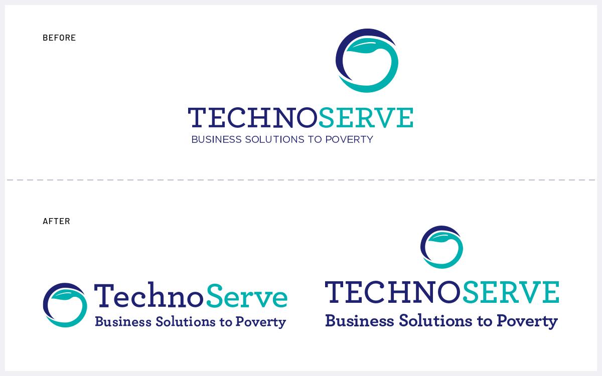 TechnoServe logo work.