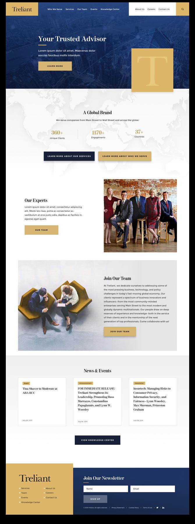 Treliant Homepage.