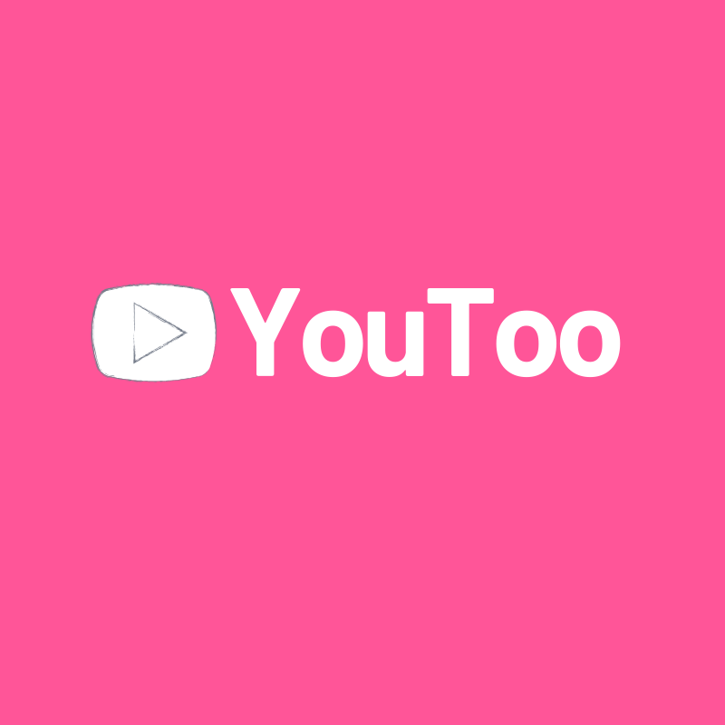 A satirical asset of the the YouTube logo that reads, 'YouToo'.