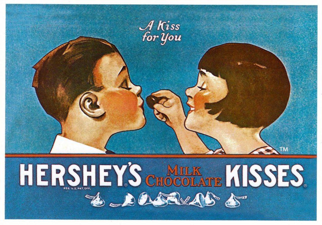Vintage Hershey's advertisement circa 1969.