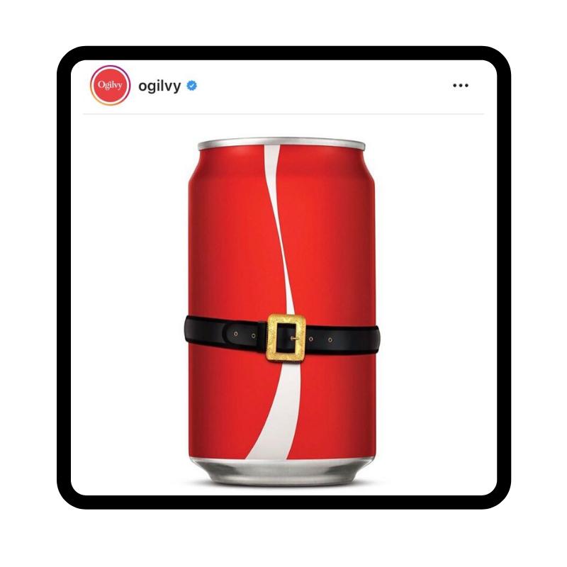 Ogilvy's Santa-Coca Cola ad on Instagram.